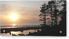 Sun Down At  Kalaloch Acrylic Print