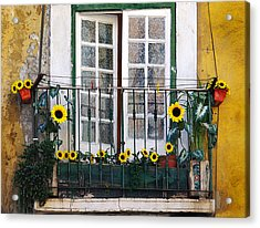 Sunflower Balcony Acrylic Print