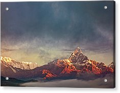 Sunrise On Anapurna Acrylic Print