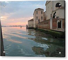 Sunrise On Isola Di San Clemente Venice Acrylic Print by Harry Mason