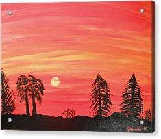 Sunset Glow Acrylic Print by Jeannie Atwater Jordan Allen