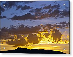 Sunset Over Horsetooth Rock Acrylic Print by Harry Strharsky
