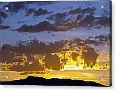 Sunset Over Horsetooth Rock Acrylic Print