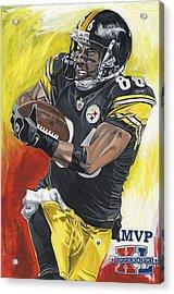 Super Bowl Mvp Hines Ward Acrylic Print by David Courson