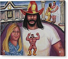 Suzanne With The Macho Man Acrylic Print by Suzanne  Marie Leclair