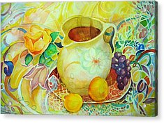 Acrylic Print featuring the painting Sweet Tea by Anne Dentler