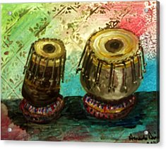 Acrylic Print featuring the painting Tabla X 2 by Amanda Dinan