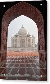Taj Mahal - Color Acrylic Print by Stefan Nielsen