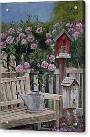 Take A Seat Acrylic Print by Mary-Lee Sanders