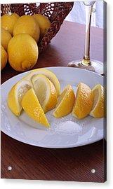 Taste Of Lemon Acrylic Print by Christin Burrows