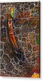 The Beast Steps Into The Old Man's Cabin Acrylic Print by Al Goldfarb