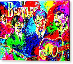 The Beatles Acrylic Print by Mike OBrien
