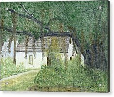 The Cottage-st. Simons Is. Ga Acrylic Print by Diane Frick