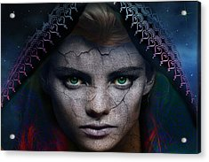 Acrylic Print featuring the digital art The Eye Of The Soul by Shadowlea Is