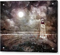 The Fading Memory Of Annabel Lee Acrylic Print by Laura Iverson