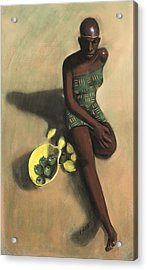 The Fruit Seller Acrylic Print by L Cooper