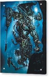 The Kraken Acrylic Print by Paul Davidson