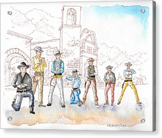 The Magnificent Seven, 1960 Acrylic Print