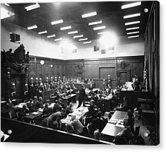 The Nuremberg Trials. The Palace Acrylic Print by Everett