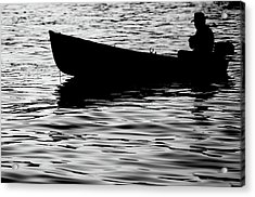 Acrylic Print featuring the photograph The Old Fishermen by Pedro Cardona