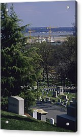 The Pentagon Looms Behind  Arlington Acrylic Print by Raymond Gehman