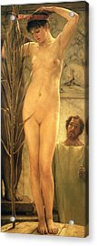The Sculptor's Model Acrylic Print by Sir Lawrence Alma-Tadema