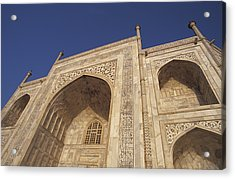 The Taj Mahals Pristine White Marble Acrylic Print by Jason Edwards
