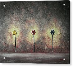 Acrylic Print featuring the painting Three Amigos by Edwin Alverio