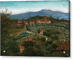 Tuscan Farm Acrylic Print by Leah Wiedemer