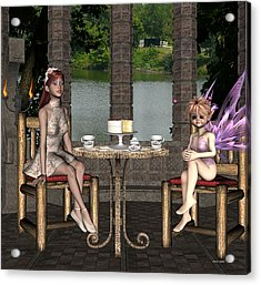 Two For Tea Acrylic Print by Morning Dew