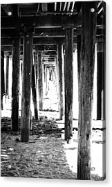 Under The Pier Acrylic Print by Linda Woods