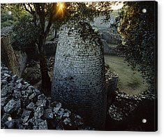 View Of The 8th Century Conical Tower Acrylic Print by James L. Stanfield