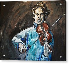 Violinist1 Acrylic Print by Denise Justice