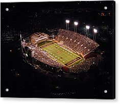 Wake Forest Aerial View Of Bb And T Field Acrylic Print by John Grogan