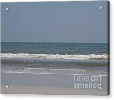 Watching The Waves Acrylic Print by Barb Montanye Meseroll