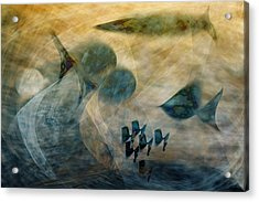 Water World One Acrylic Print by Gae Helton