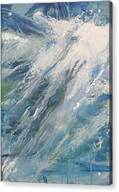 Acrylic Print featuring the painting Wave by John Fish