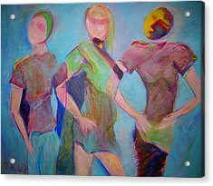 We Three Acrylic Print by Mary Schiros