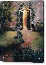 Acrylic Print featuring the painting Welcoming Light by Brenda Thour