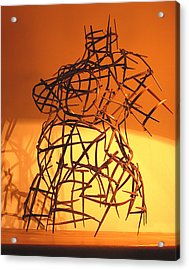 Welded Torso Acrylic Print by Tommy  Urbans