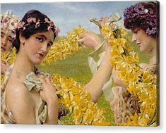 When Flowers Return Acrylic Print by Sir Lawrence Alma-Tadema