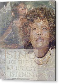 Whitney Houston Sing Acrylic Print