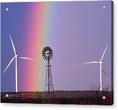 Windmill Promises Old And New Acrylic Print by Alycia Christine