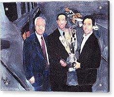 Winning Nascar Acrylic Print by David Poyant