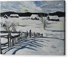 Acrylic Print featuring the painting Winter Scene by Debora Cardaci