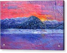 Winter Sunset Acrylic Print by Sandy Hemmer