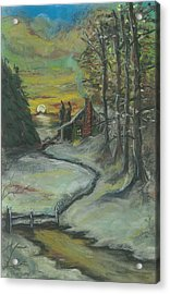 Winter's Here Acrylic Print by Shelby Kube