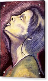 Worshiper Acrylic Print by Carrie Maurer