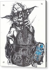 Yoda Soothes Baby R2 With The Charm Of His Homegrown Cello Acrylic Print