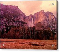 Yosemite Falls View Acrylic Print by Denise Taylor